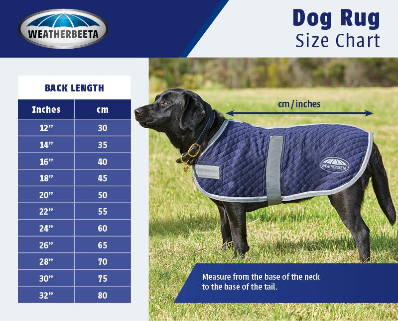 Weatherbeeta Dog Coat Size Guide
